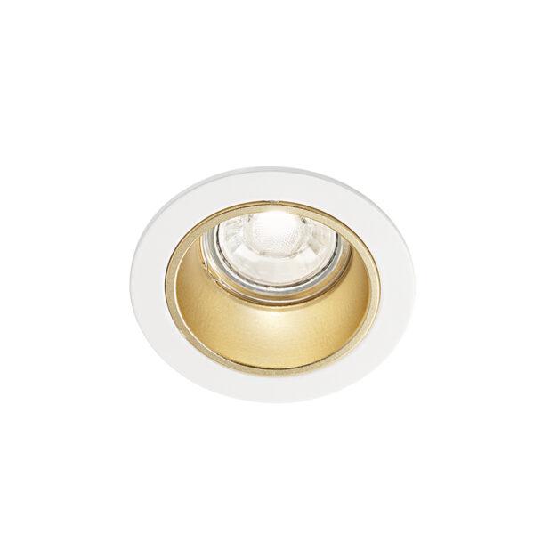 Faretto tondo da incasso in alluminio ø90x59 - Bianco/Oro